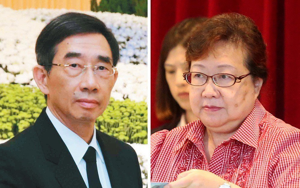 長榮集團董事張國華(左)挺柯麗卿(右)連任董座。 聯合報系資料照