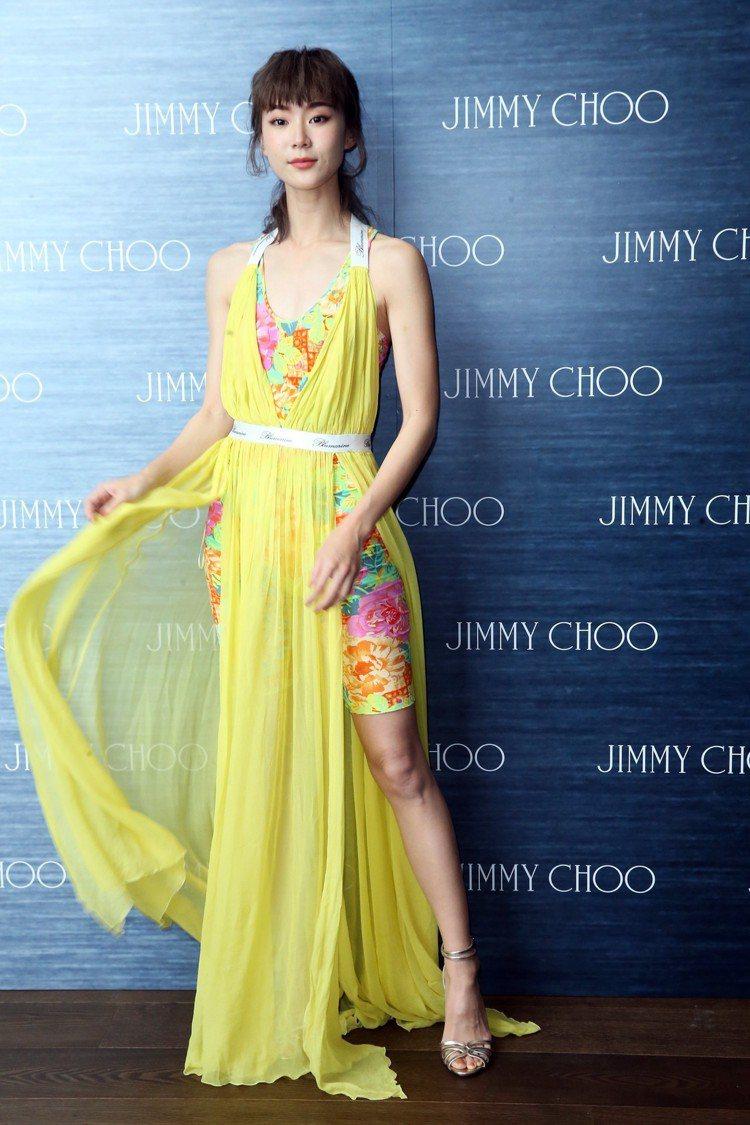 時尚品牌Jimmy Choo發表春夏系列,女星鍾瑶出席。記者徐兆玄/攝影