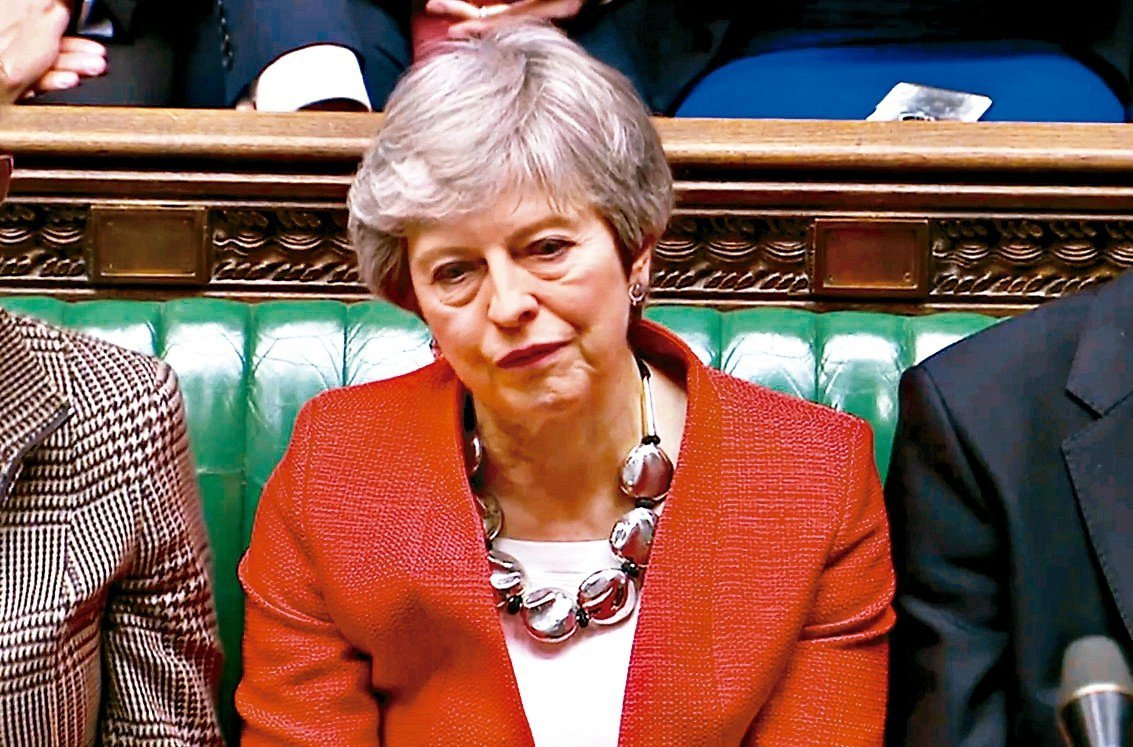 英國國會再次否決梅伊首相和歐盟達成的改良版脫歐協議。 路透