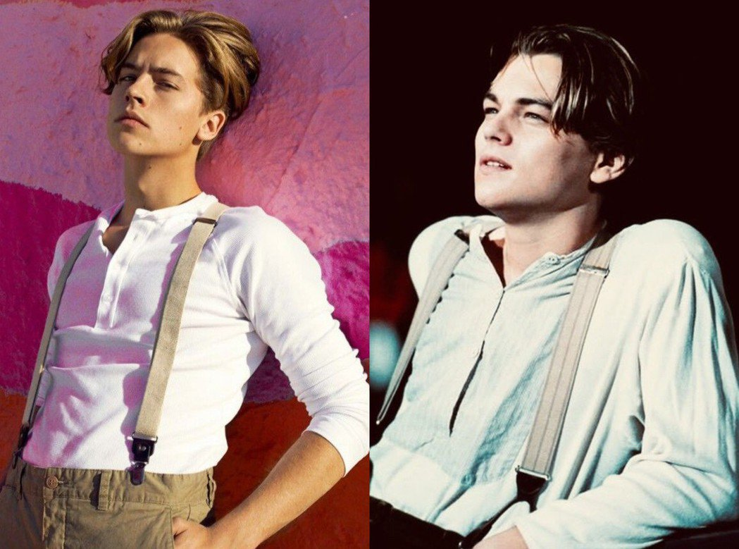 網友發現寇爾史普洛茲(左)激似年輕時的李奧納多狄卡皮歐(右,本圖翻攝自網路)