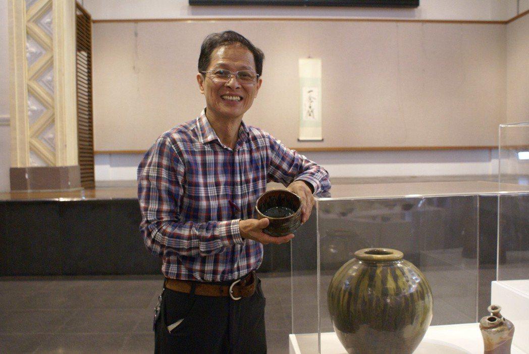 張永宗「一念之間」柴燒陶藝展,挑選152件創作精品亮相。 吳青常/攝影