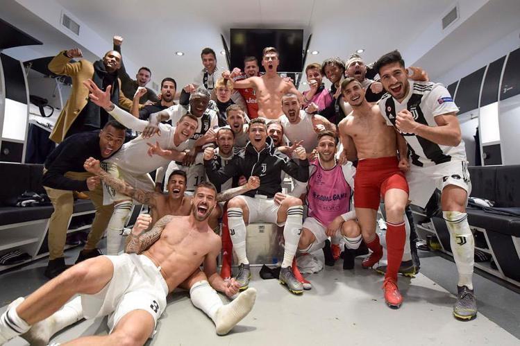 賽後尤文圖斯發文慶祝晉級歐冠八強。圖/摘自IG