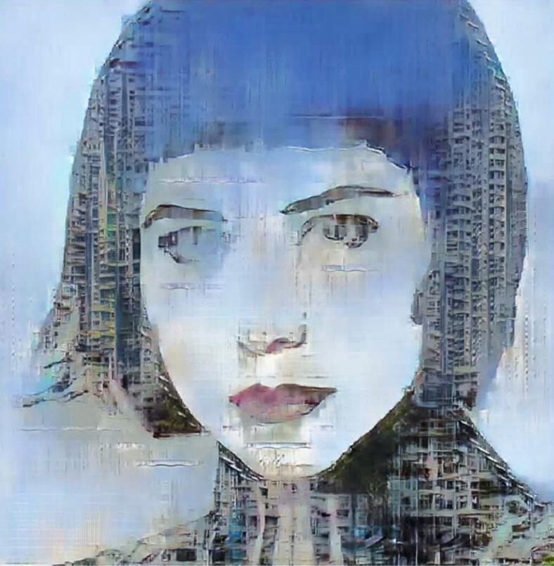 團隊利用AI人工智能技術設計出何超儀的油畫照片。圖/Drill Team 162