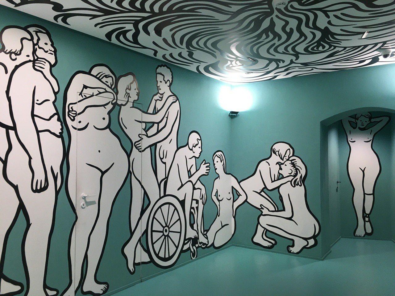 佛羅倫斯的古馳花園Gucci Garden裡,由視覺藝術家MP5創作的On / ...