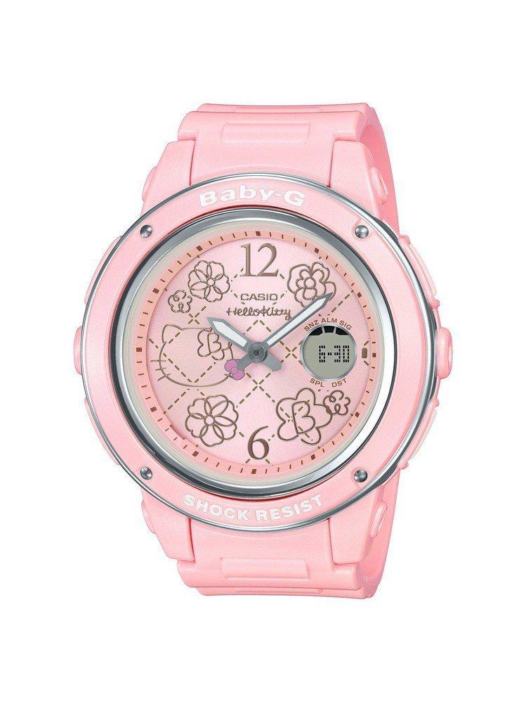 Baby-G BGA-150KT-4B腕表,粉紅表殼與表盤,5,500元。