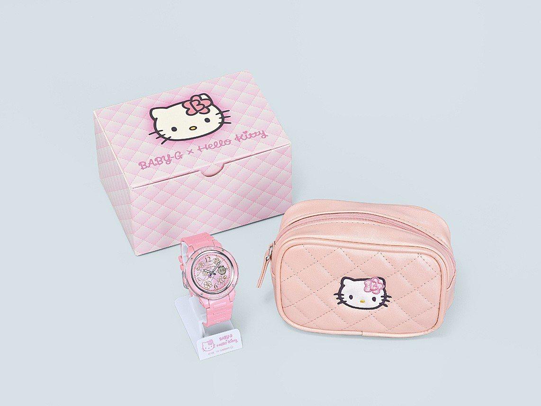 Baby-G與Hello Kitty再推聯名表,外包裝為獨特專屬的迷你小包與紙盒...
