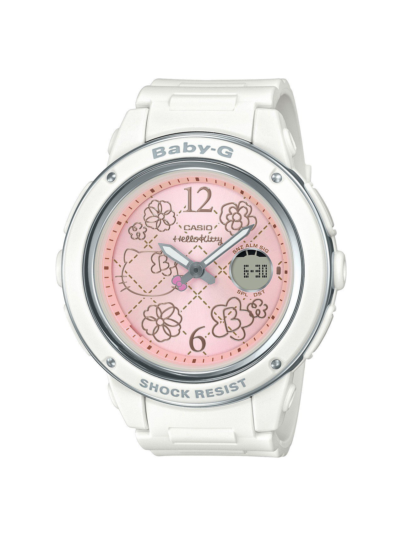 Baby-G BGA-150KT-7B腕表,白色表殼搭配粉紅色表盤,5,500...