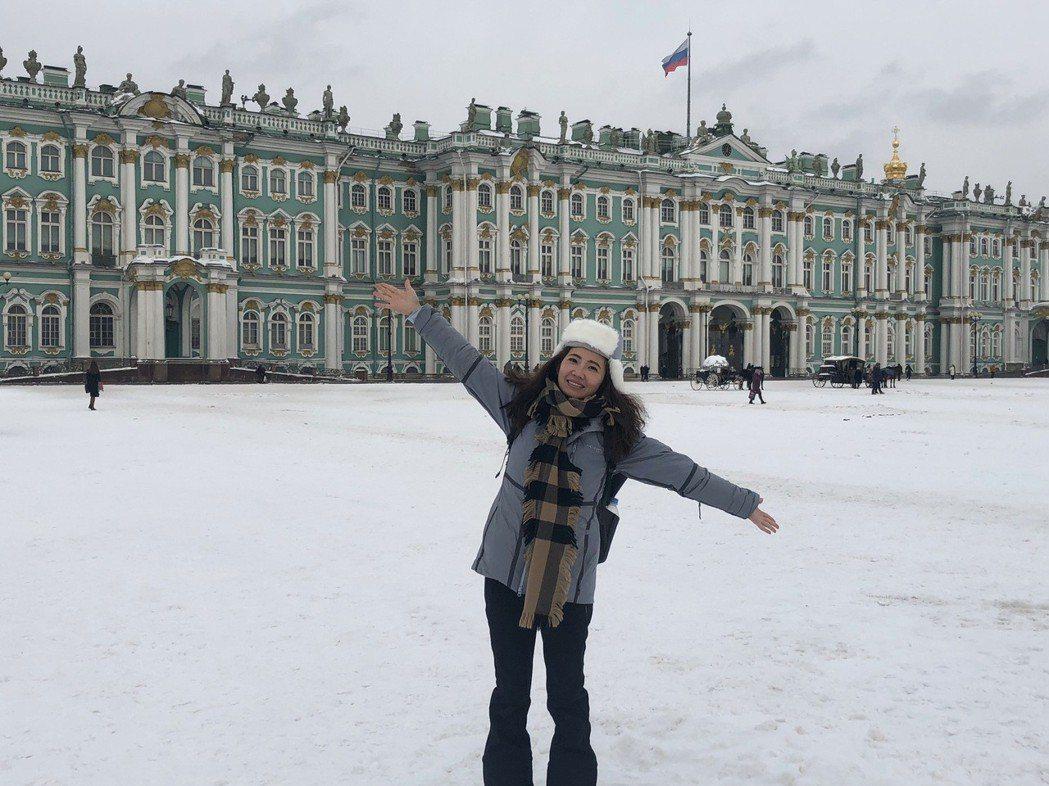 謝忻隻身前往俄羅斯旅遊。圖/經紀公司提供