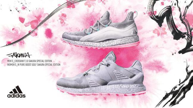 adidas Golf推出新款「櫻花鞋」。 圖/adidas Golf提供