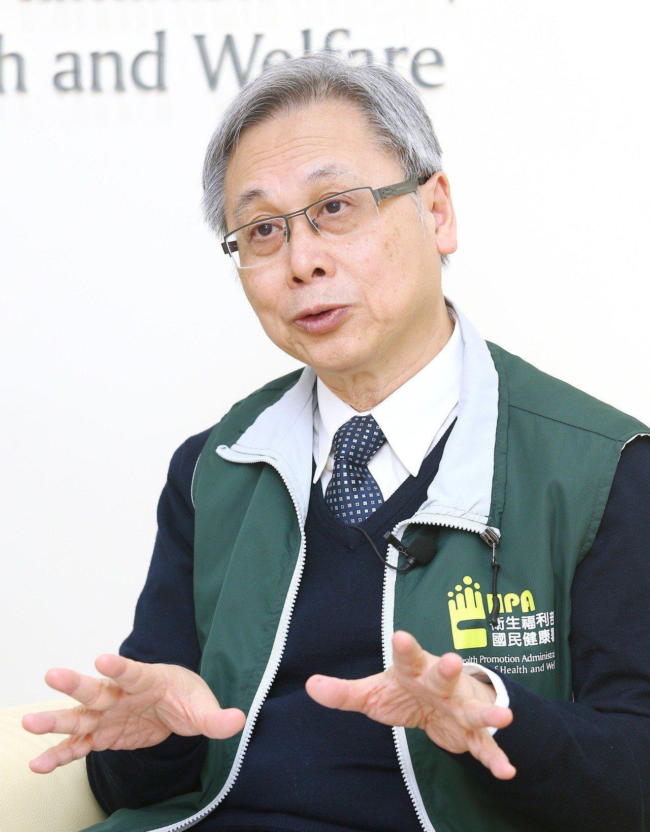 國健署長王英偉提醒大家,包括抽菸、喝酒、運動量少、不良的飲食習慣和肥胖都是形成癌...