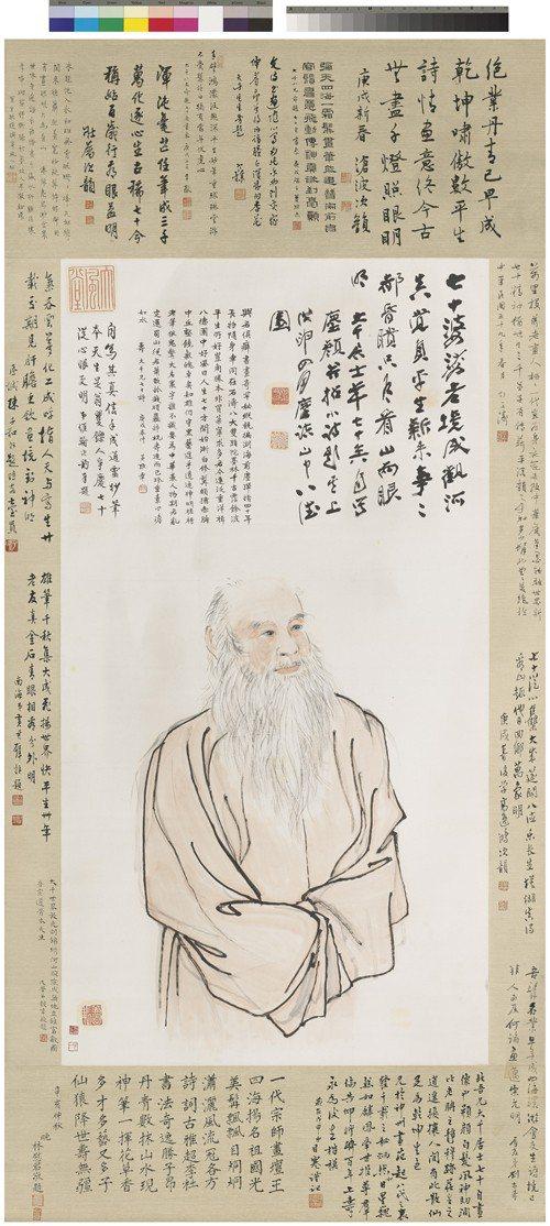 「巨匠的剪影-張大千120歲紀念大展 」四月開展,圖為張大千的七十自畫像。圖/ ...