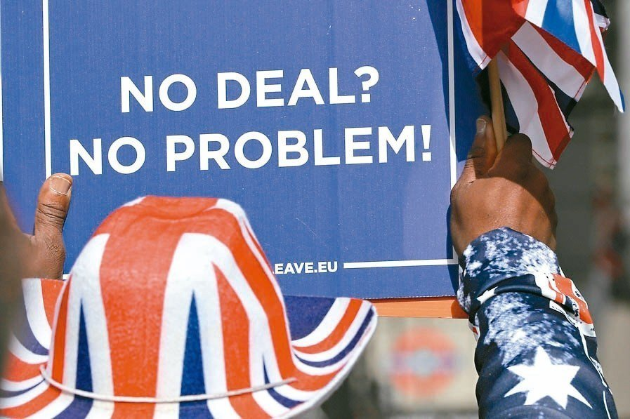 梅伊改良版脫歐協議再遭英國會否決。 美聯社