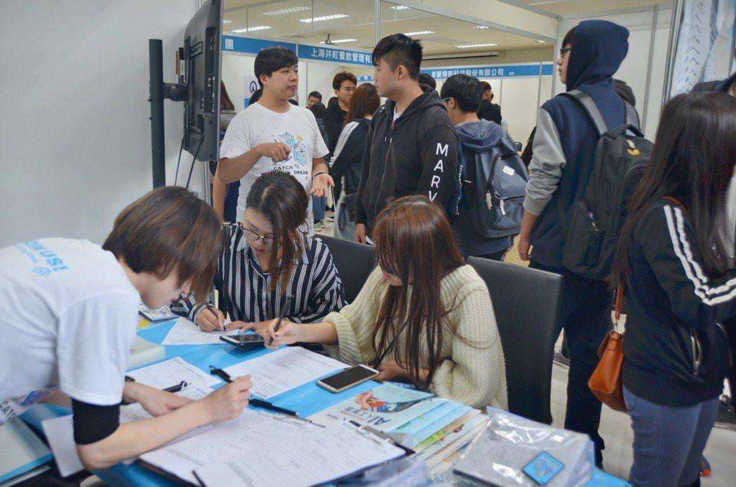 僑光科大學生熱烈參與。 楊聰橋/攝影