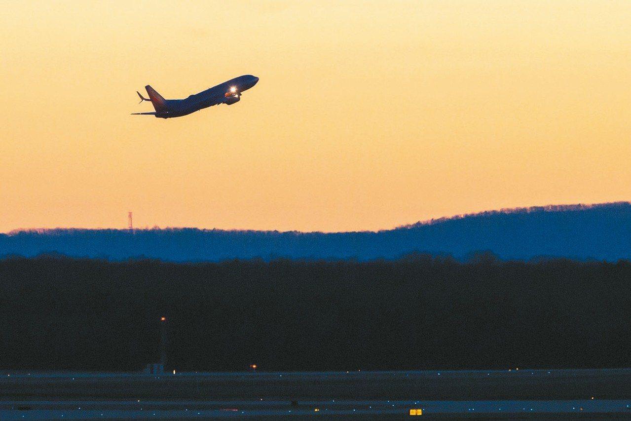 美國西南航空公司的波音737 Max 8客機。 歐新社