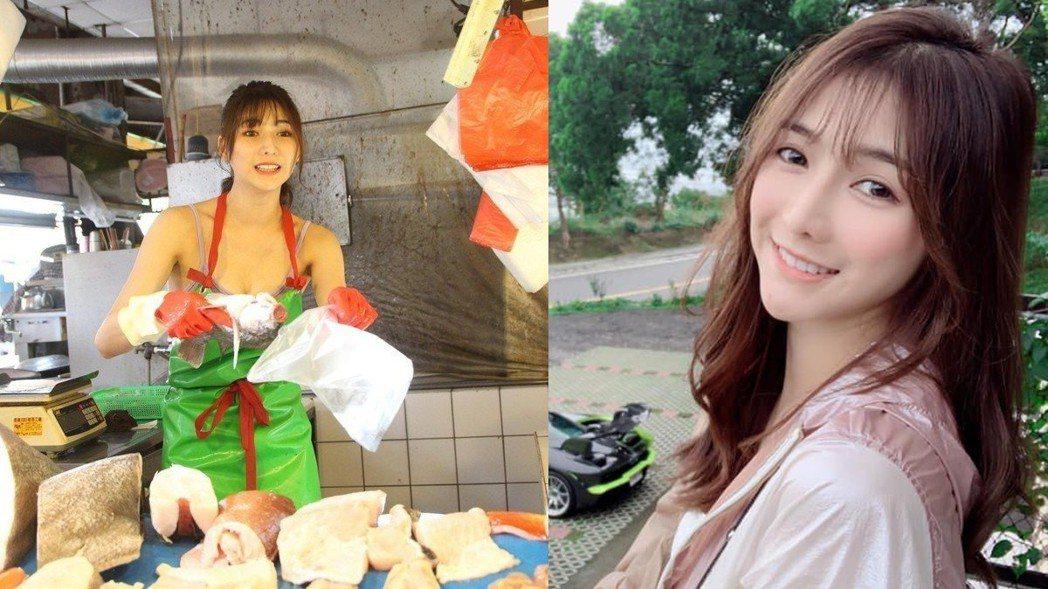 阿澎去年12月在彰化市場賣魚。 圖/擷自臉書