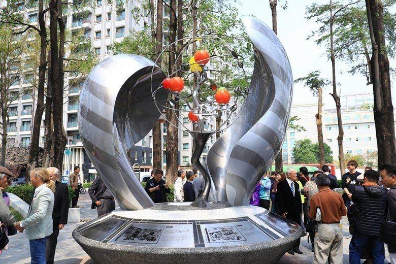 位於台中干城公園的二七部隊紀念碑。 圖/聯合報系資料照