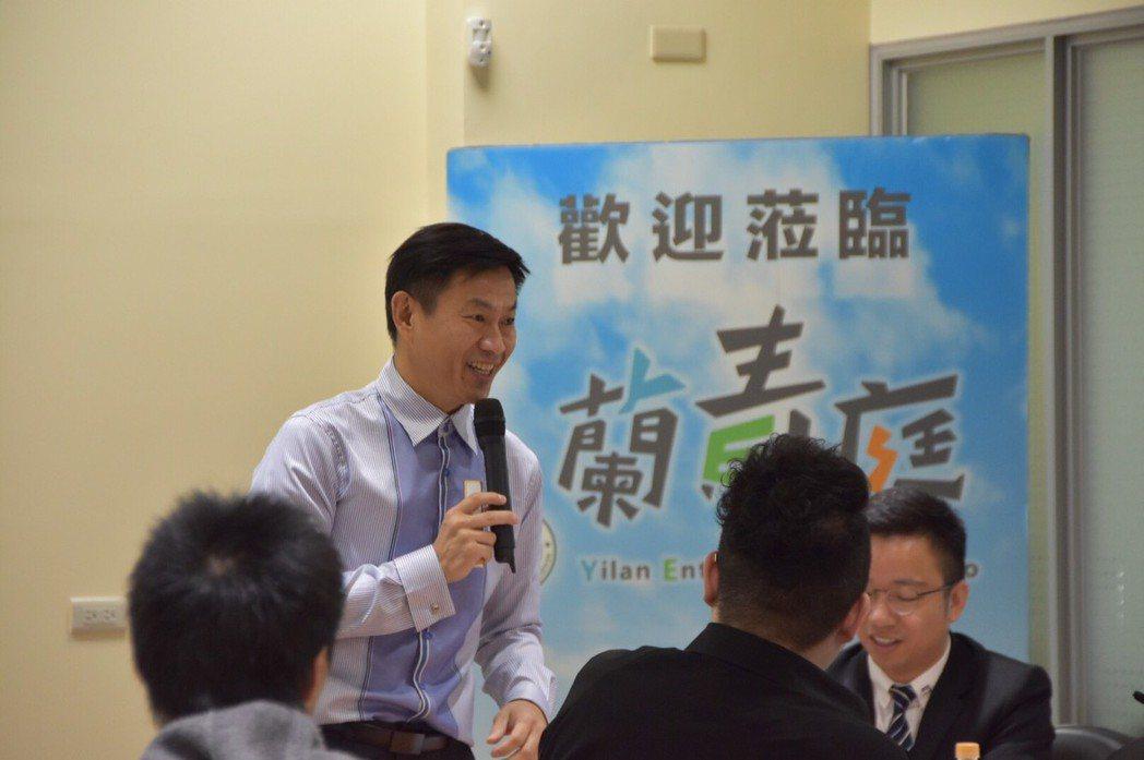 簡報技巧及魅力表達專業講師陳志忠先生主講、主持。 宜蘭園區蘭青庭/提供