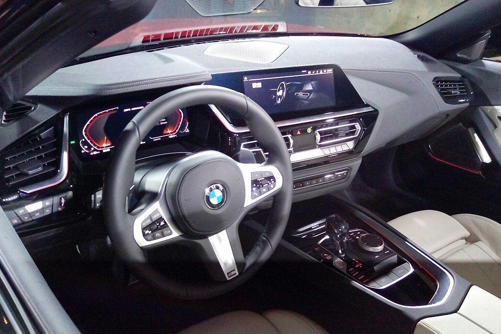 未來導入台灣市場的全新BMW Z4也將會有全數位虛擬座艙配置。 記者張振群/攝影