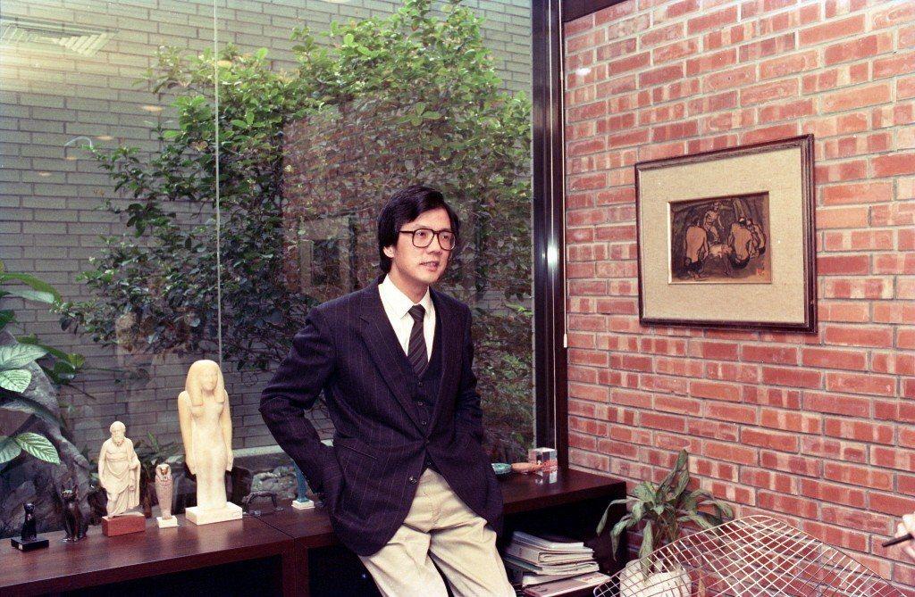 誠品創辦人,吳清友。攝於1989年3月。 圖/聯合報系資料照
