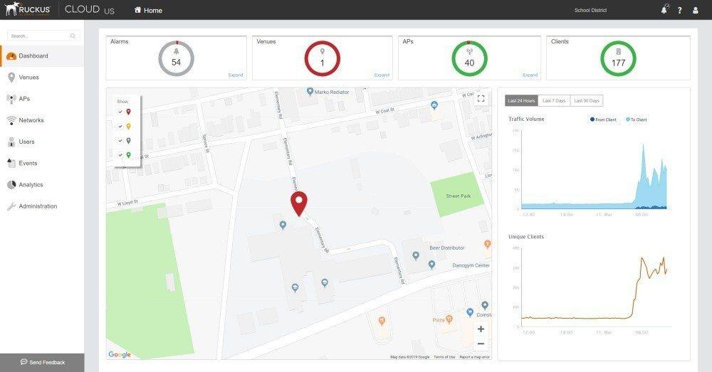 透過網頁或app形式的控制台介面,即可讓網管人員輕易確認當下無線網路熱點連接狀況