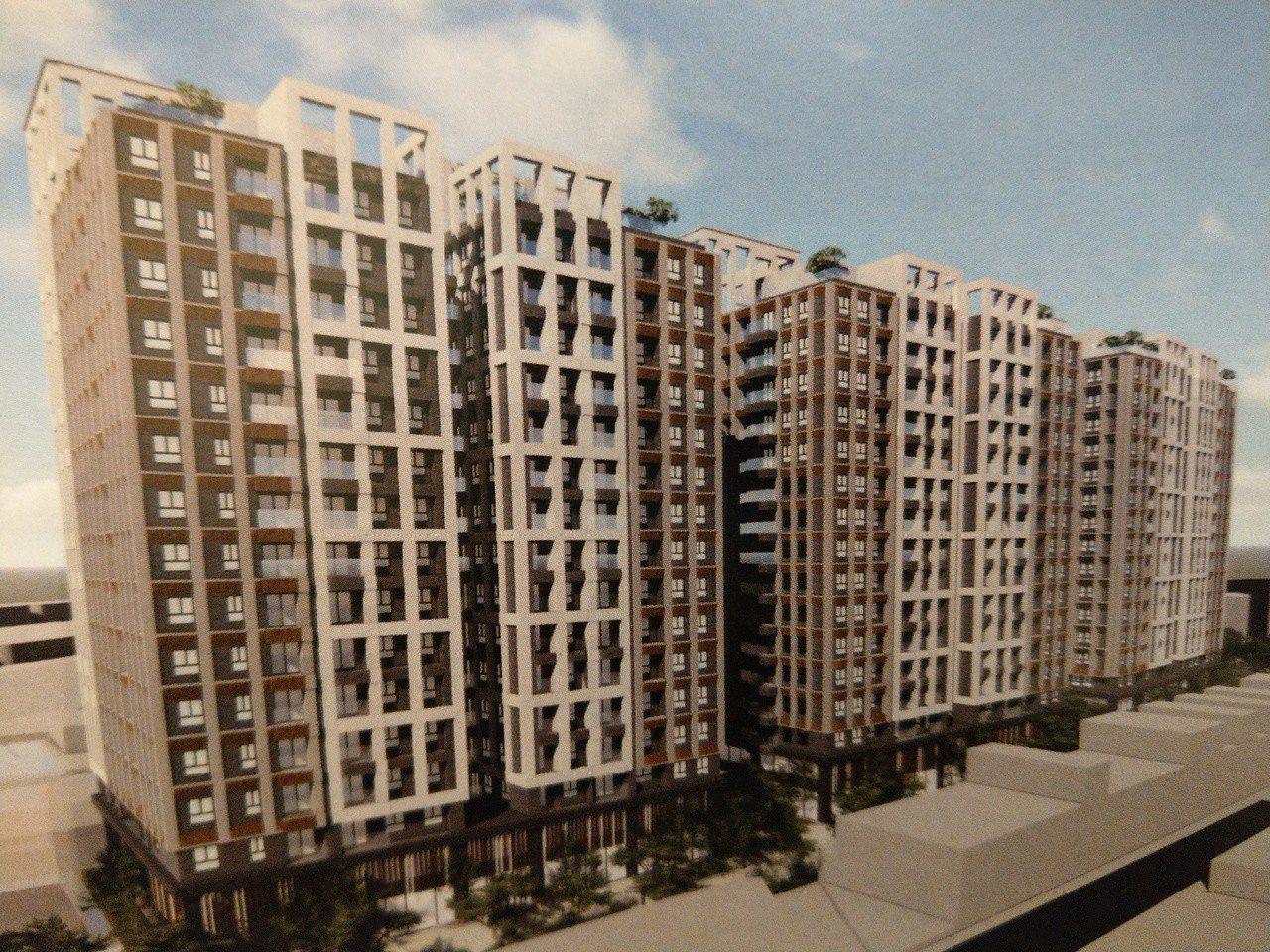 捷運表年宅預計興建樓高15層、總樓地板面積達1800的大樓,以2到3房為主力產品...