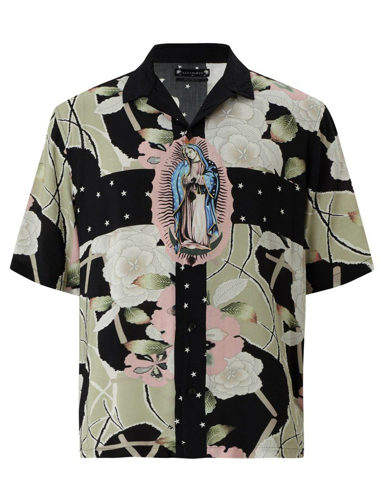 ALLSAINTS Puerto印花襯衫,4,400元。圖/ALLSAINTS提...