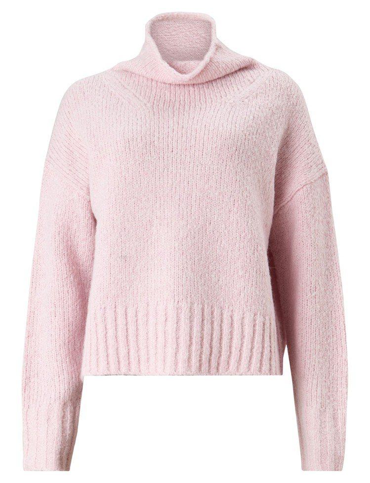 ALLSAINTS Bay粉色高領毛衣,8,700元。圖/ALLSAINTS提...