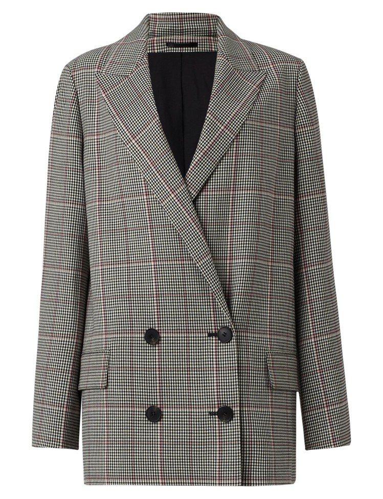 ALLSAINTS Helei格紋西裝外套,11,800元。圖/ALLSAINT...