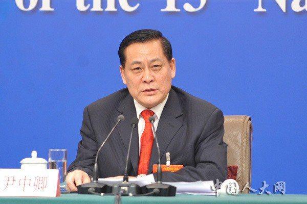 大陸全國人大財經委副主任尹中卿。取自全國人大網