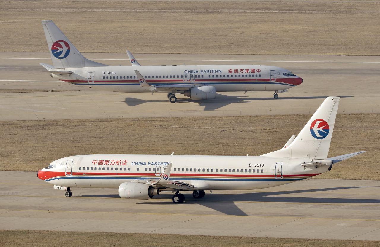 在波音737 Max 8客機10日墜機意外後,中國大陸率先宣布停飛。圖為停在太原...