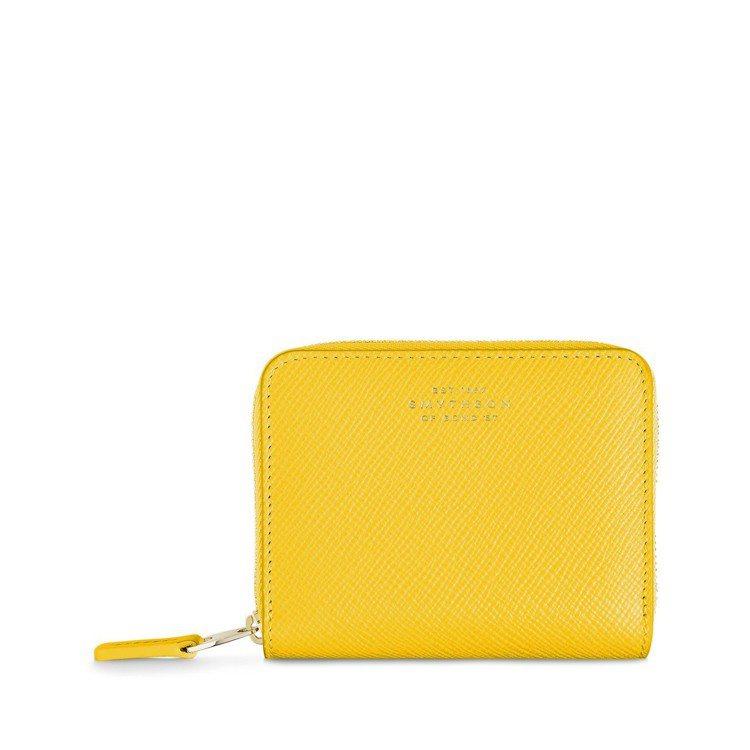 Smythson皮革錢包(黃),特價798元。圖/ARTIFACTS提供