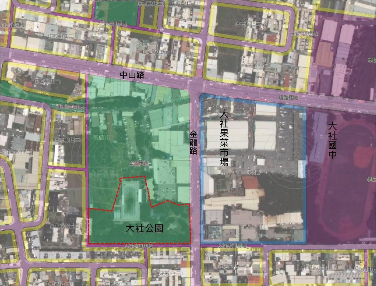 高雄市近期要啟動「公共設施保留地」專案通盤檢討作業。圖/高雄市都發局提供