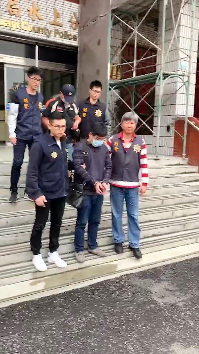 嘉義縣警局水上分局偵查隊,本月12日將林嫌移送法辦。記者卜敏正/翻攝