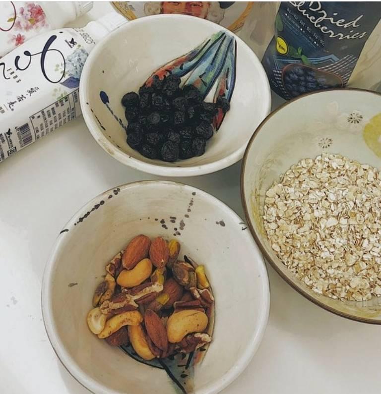 隋棠的健康早餐。圖/截圖自IG