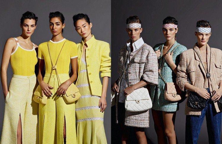 春夏鍊帶雙包是形象廣告主角。圖/香奈兒提供