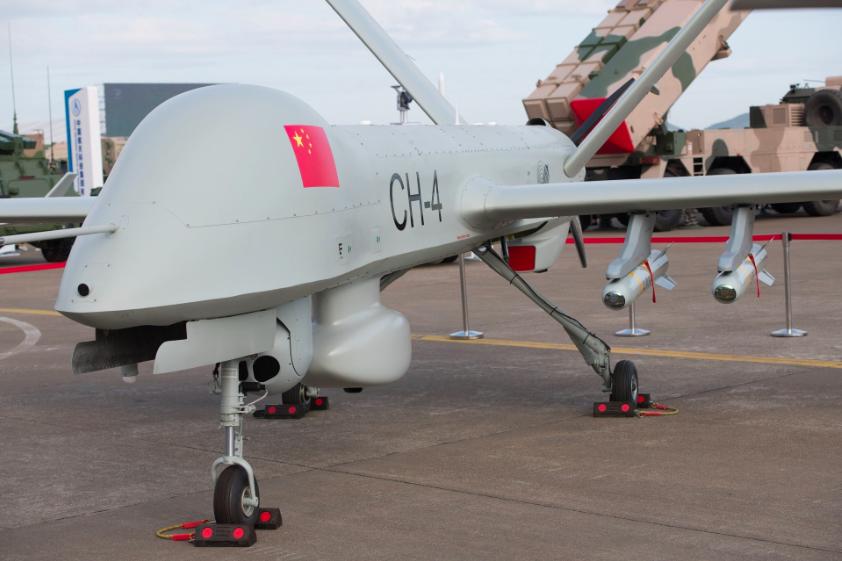 中共積極外銷到中東和北非的彩虹-4無人機,單價只有數百萬美元,平均每小時飛行成本...