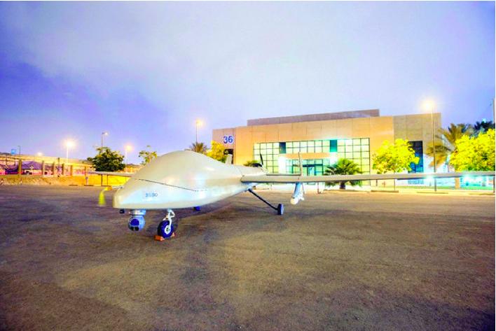 引進中國航太科技集團彩虹-4無人機生產線,沙國自行生產的彩虹-4—沙奎爾-1無人...