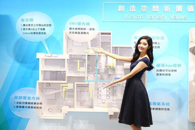 大金空調以先進科技及多元商品,創造空間新價值。圖/和泰大金提供