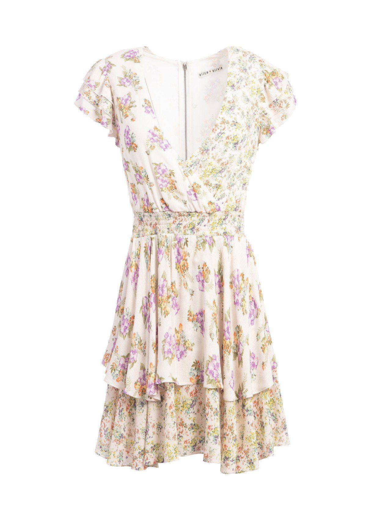 花卉印花洋裝13,900元。圖/Alice+Olivia提供