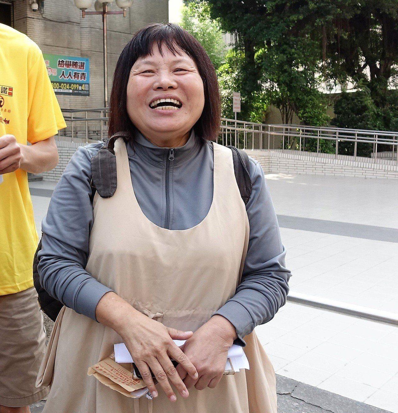 無黨籍縣議員蔣月惠看兩黨初選競爭激烈,她說「只有我最確定」。圖/本報資料照