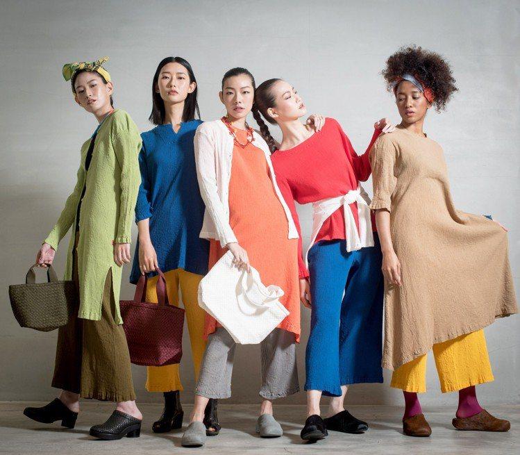 HaaT經典的「京都縐織」2019春夏系列商品。圖/HaaT提供