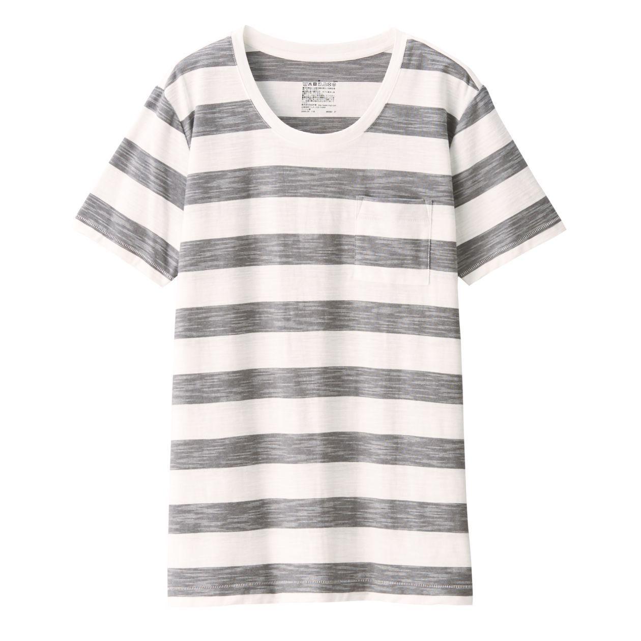 MUJI無印良品女印度棉節紗天竺圓領短袖T恤,從原價450元調降為350元。圖/...
