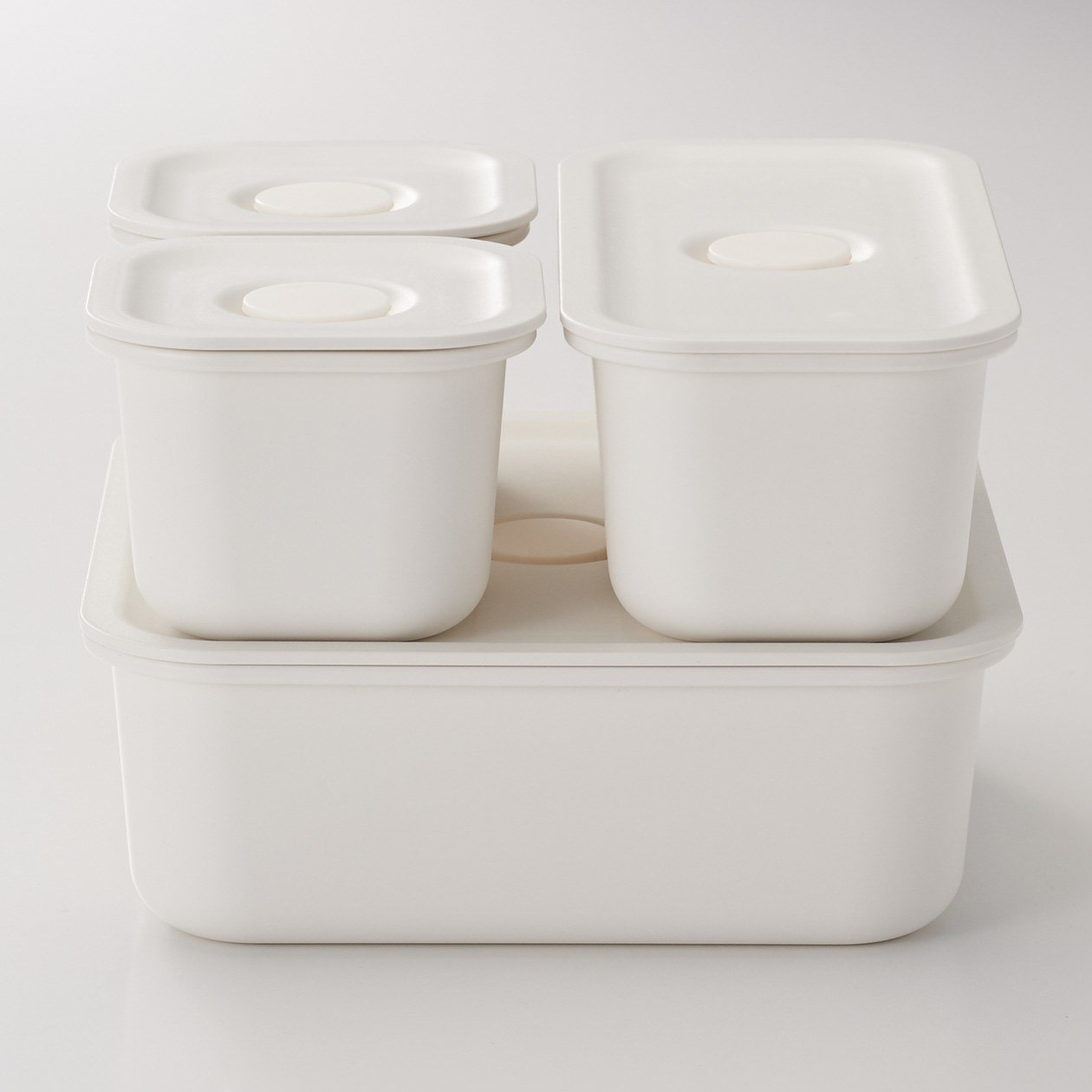 MUJI無印良品聚丙烯密閉式便當盒系列,新售價降幅約20%左右。圖/無印良品提供