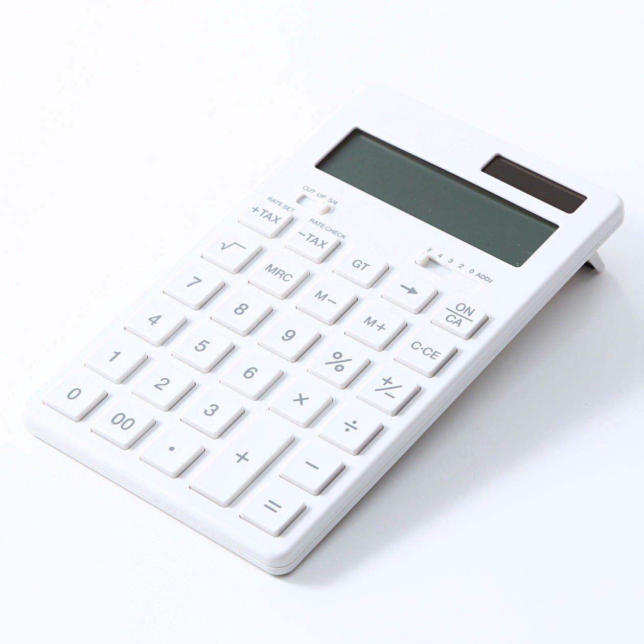 MUJI無印良品計算機系列,新售價降幅約6%左右。圖/無印良品提供