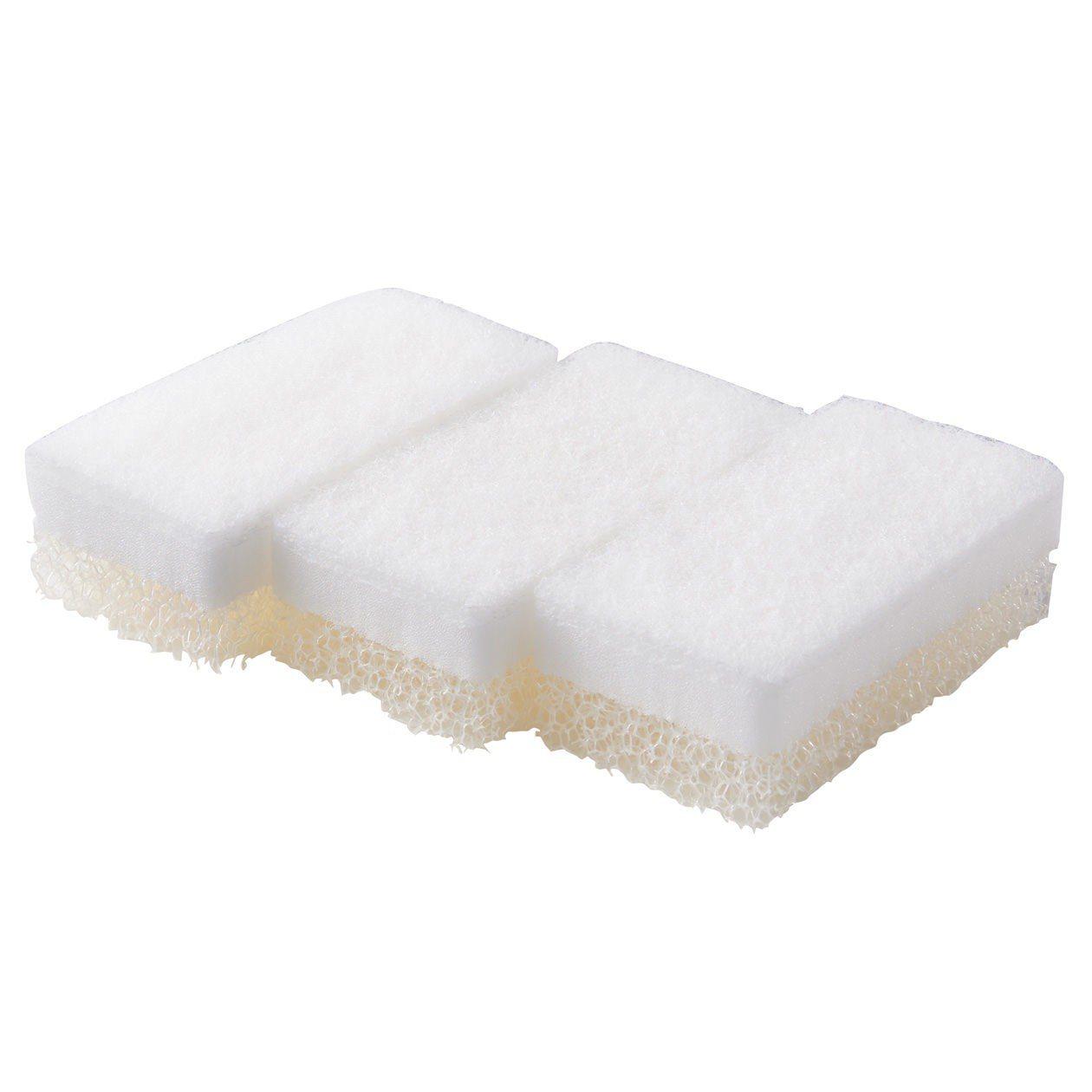 MUJI無印良品聚氨酯三層海綿3入,從原價160元調降為129元。圖/無印良品提...