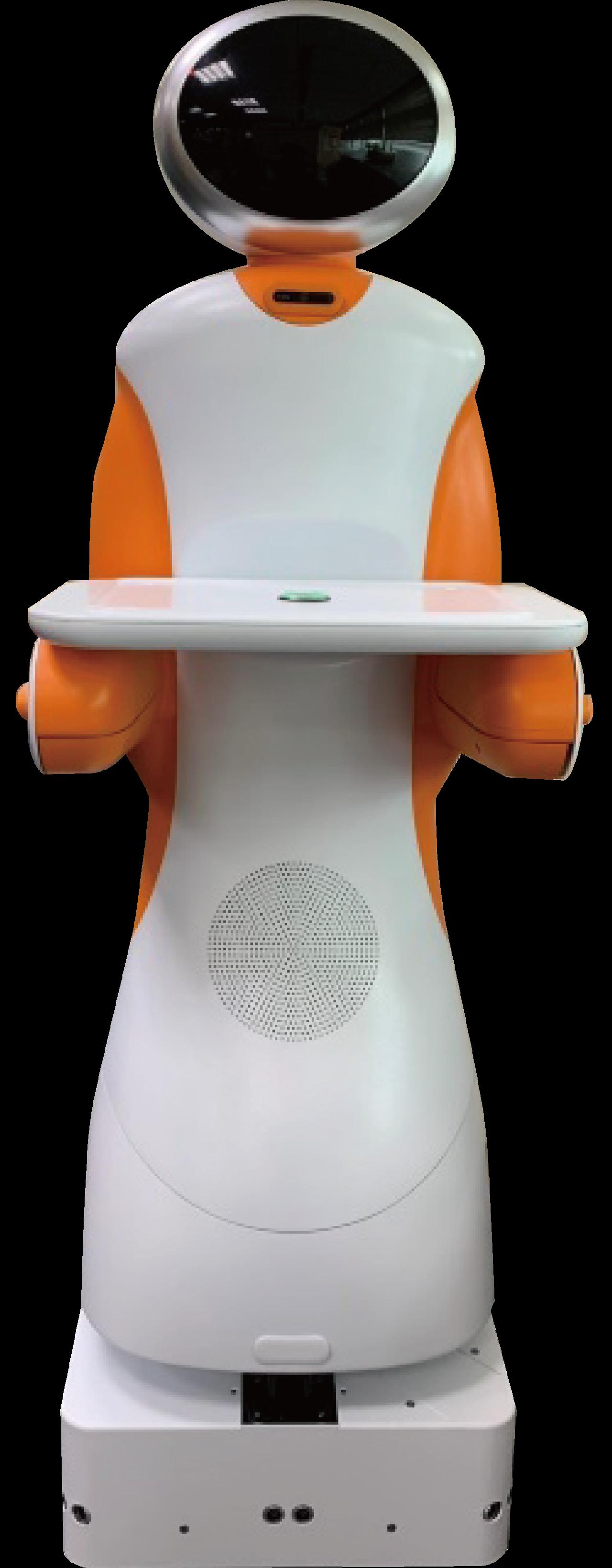 東元的送餐機器人已應用於摩斯漢堡。圖/東元提供