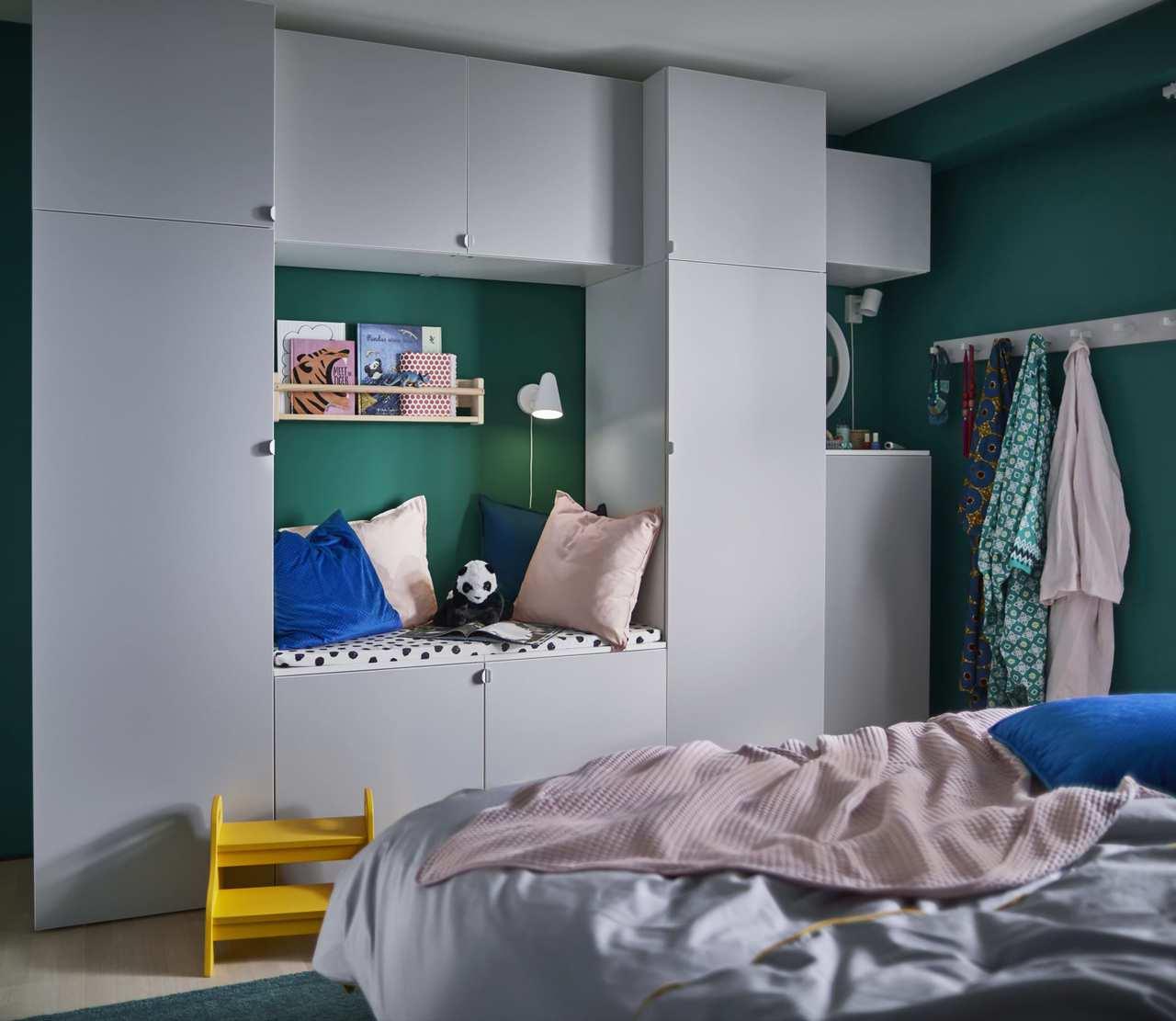 IKEA PLATSA系統衣櫃可依據收納需求與空間大小自由組合,搭配出個人專屬的...