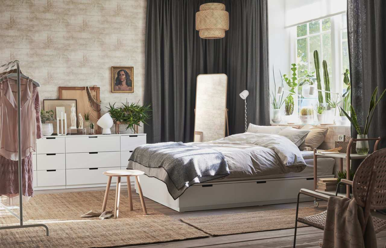 IKEA推薦「五感放鬆法」,運用3招改善臥室空間,紓壓迎接好眠。圖/IKEA提供