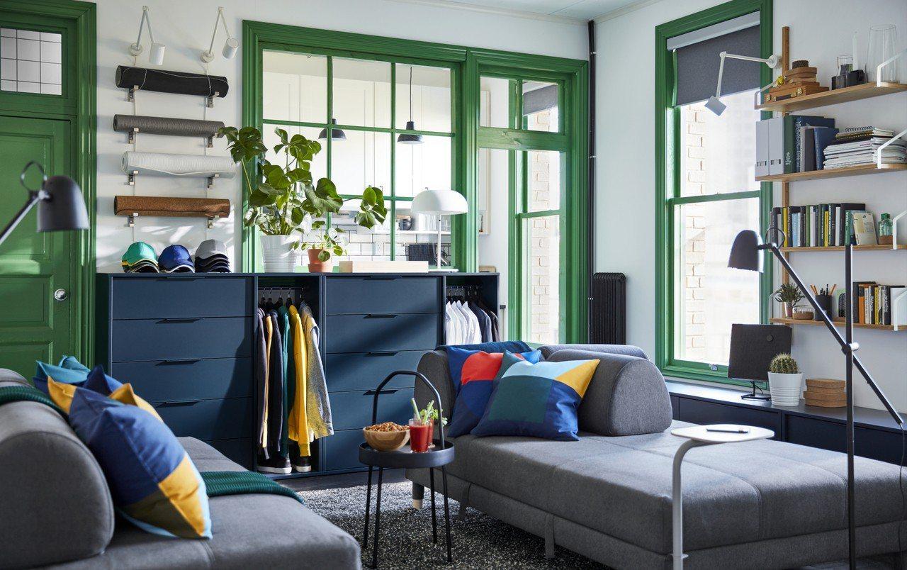 IKEA新品NORDMELA抽屜櫃附吊衣桿,拯救傳說中臥室那把永遠掛滿衣服的椅子...