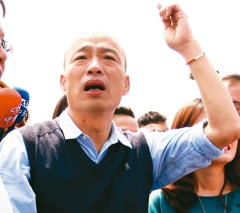 國民黨主席吳敦義昨天首度指出,若韓國瑜能當選總統,「不會對不起高雄」。 記者劉學...